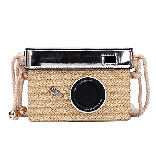 OIKAY Mode Damen Tasche Handtasche Schultertasche Umhängetasche Mode Neue Handtasche Frauen Umhängetasche Schultertasche Strand Elegant Tasche Mädchen 0605@063