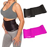 C.P. Sports Fitnessgürtel Bauchgürtel zur Fettverbrennung - Taillentrimmer für Männer und Frauen - Schwitzgürtel zum abnehmen, Slimmer Belt - Bauchweggürtel Taillengürtel Taillenformer Miedergürtel (Schwarz)