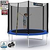 Kinetic Sports Outdoor Trampolin Gartentrampolin für Kinder und Erwachsene mit Randabdeckung und Sicherheitsnetz Ø 275 cm