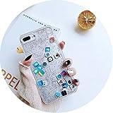 Cute Apps Coque Rigide pour iPhone 6/6S/7/8 Plus Motif émoticônes for iPhone 7 APP Silver