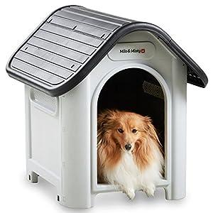 Milo & Misty Plastic Dog House - Outdoor Kennel for Pet Shelter