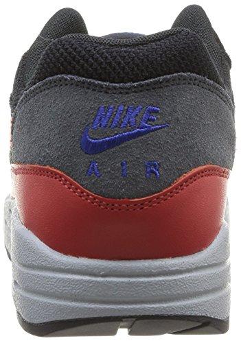 Nike Nike Air Max 1 Essential - Scarpe da ginnastica da uomo Multicolore (Black/Hyper Crimson-Red Clay)