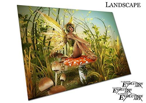 Poster Druck Illustration Fantasy genießen die Letzten Sonnenstrahlen Fairy Art - a1