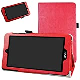 Acer Iconia One 7 B1-780 / B1-790 Coque,Mama Mouth Slim Folio PU Cuir debout Fonction...