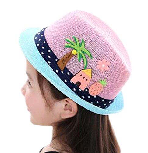 Abdeckung Hut, Mütze, (LAAT Kinder Sonnenhut Baby Sonnenschutz Abdeckung Kinder Hut Outdoor Sonnenschutz Strand Strohhut)