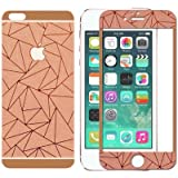 Relax And Shop 3D Diamond Mirror Front + Back Tempered Glass Screen Protector For Iphone 6 / 6S - Rose Gold