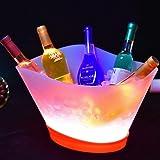 YANGMAN-Wine LED Seau à Glace 12 litres Grande capacité Seau à Glace Lumineux avec 7 Couleurs changeantes Rechargeable Champa