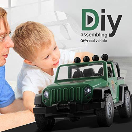Mitlfuny Auto-Modell Plüsch Bildung Squishy Spielzeug aufblasbares Spielzeug im Freien Spielzeug,Off-Road-Fahrzeug - Bauen Sie Sich Ihren DIY-Rennwagen-Bausatz zusammen