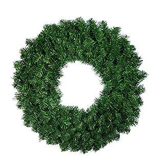 OULII Coronas y guirnaldas de Navidad Guirnalda de Puerta de Navidad Piñas Agujas de Pino Guirnaldas de Navidad Decoración 40CM
