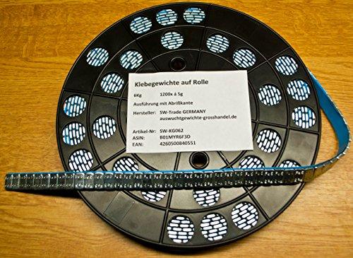 1200 KLEBEGEWICHTE auf Rolle Auswuchtgewichte 6Kg mit Abrißkante Kleberolle