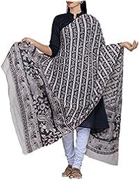 Unnati Silks Women Cream Pure Kalamkari Cotton Dupatta With Floral Kalamkari Prints From The Weavers Of Andhra...