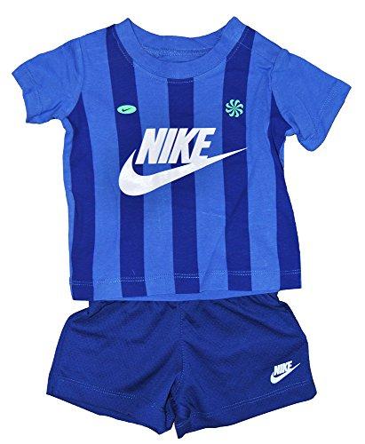 Nike Baby Anzug Kleidung Set Blau, Größe Kleidung Kinder:12M (75-80cm) (Baby-kleidung Set Nike)