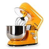 Mixeurs Batteurs Et Robots Multifonctions Best Deals - Klarstein Bella Orangina TK2 robot de cuisine multifonction avec bol en inox de 5L (accessoires fouet, pétrin, crochet, 6 vitesses, 1200W) - orange