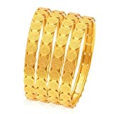 #9: Sukkhi Wedding Jewellery Bangle for Women (Golden) (32083BGLDPP400_2.6)