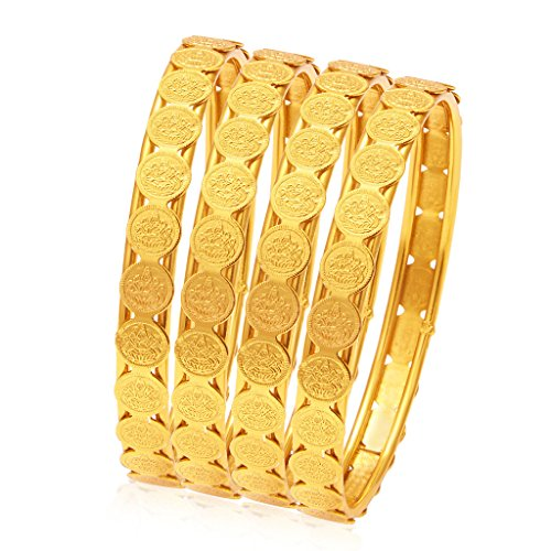 Sukkhi Jewellery Bangle for Women (Golden) (32083BGLDPP400_2.6)