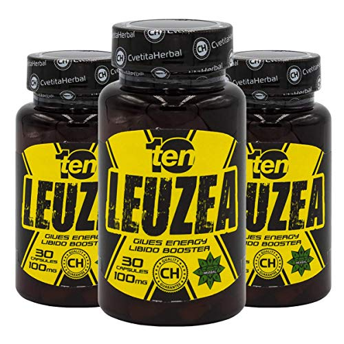 Leuzea carthamoides Max kapseln Natürlicher Kräuterextrakt, Stärke, Ausdauer, Muscle Fuel Anabole Magermasse & Masse & Kraftgewinn, Muskelwachstumsaktivator (90 kapseln) -