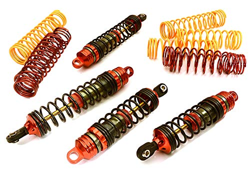 Integy RC Model Hop-ups T6752RED XSR Shock Set (4) for Traxxas Nitro Stampede 2WD & Nitro Rustler (L=89/103mm) (Motor Nitro Rustler)