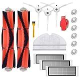 SODIAL Fuer Mi Roboter Roborock S50 S51 Roborock 2 Zubehoer Set Packung Mit Hauptbuerste, Hepa Filter, Seitenbuerste, Reinigung Werkzeug, Wischtuch Und Wasser Tank Filter