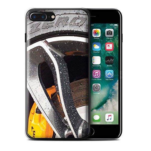 Stuff4 Hülle / Case für Apple iPhone 7 Plus / Rosa/Lila Muster / Leichtmetallfelgen Kollektion Chrom / Gelb