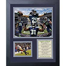 Legends Never die 2014Seattle Seahawks super Bowl Xlviii Champions legion of Boom Framed photo collage, 11x 35,6cm