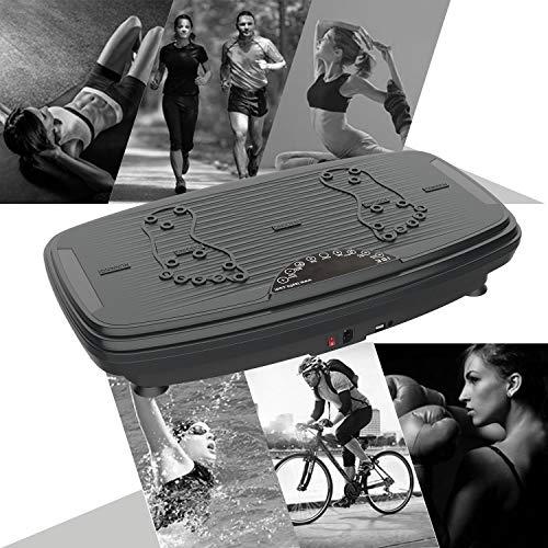 ISE Fitness Plateforme Vibrante Oscillante avec Bluetooth,USB,Télécommande,Grande Surface Anti-Dérapante 74 x 42 cm avec 2 Bandes de Résistance, 5 Programme & 99 Niveaux de Vitesse,Max.150KG,SY-329