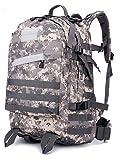 PU&PU e le camping Tuobu ® 50L de style armée sacs à dos étanches avec sepension tbb05 unisexe randonnée , gray+white-54cm , gray+white-54cm