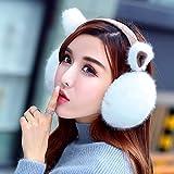 Geburtstag Festival Valentinstag Geschenk Weihnachten Weiche Tasche aufhängen Gehörschutz Kapselgehörschützer weibliche Kaninchen Katze Ohren warm männlichen Winter hat Süß Weiß (Cat Ear) feiern e
