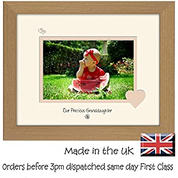Personalised Baby Granddaughter Gift Photo Frame (L) MAXIMUM 25 ...