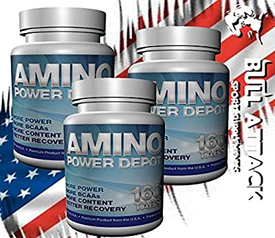 480 x BCAA + GLUTAMINE 4120mg TABLETS - Muscle Growth Supplement Anabolic Amino Acids Pills - PROTEIN BODYBUILDING BUNDLE - 1st Class P&P from BULL ATTACK