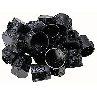 Kopp Schalterdose Unterputz, Durchmesser 60 mm, Geräteschrauben-Abstand 60 mm, Dosentiefe 65 mm, Farbe schwarz, Profipack: 25 Stück im Netz, 354302504