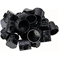 Kopp Schalterdose Unterputz Isolierstoff, ø 60mm, Farbe schwarz, Profi-Pack: 25 Stück im Netz, Dosentiefe 61 mm, 354302504