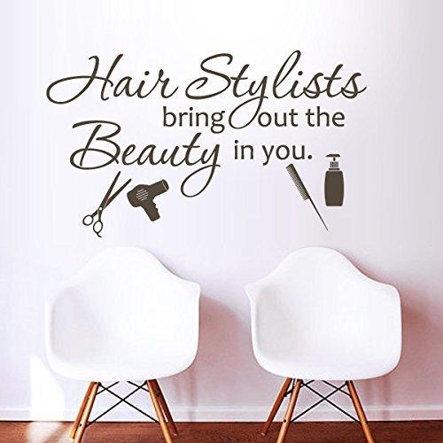 Friseursalon Farb Stand Dekoration¡°Hair Stylists Bring Out The Beauty in You¡±Friseur Art Friseurladen (Schwarz , X Large) (Farb-kamm Für Die Haare)