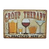 Retro Metall blechschild Schild Bild Shop Vintage Therapie Bild Bar Pub Man Cave