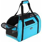 Transportín para animales domésticos, bolso a bandolera ergonómico para perros y gatos, bolsa plegable para viaje de tren y avión ( 43*20 *29 CM)