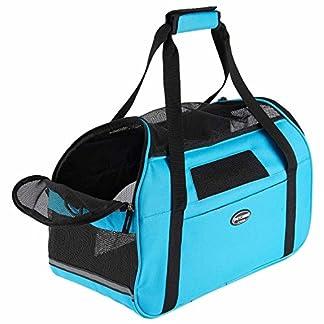 Transportín para animales domésticos, bolso a bandolera ergonómico para perros y gatos, bolsa plegable para viaje de tren y avión