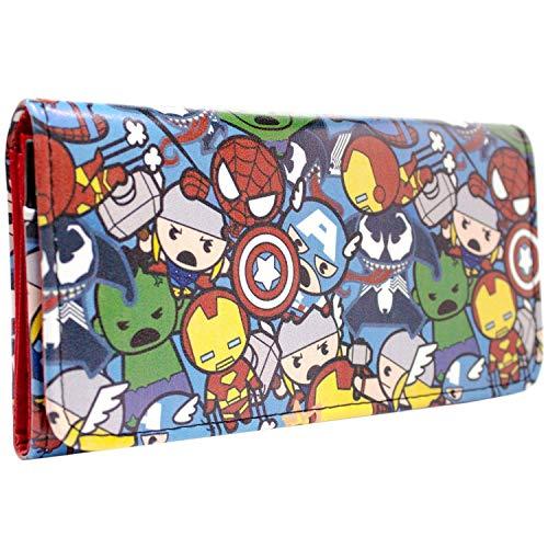 360 Kostüm Captain America - Avengers Kawaii Charakters Portemonnaie Geldbörse Rot