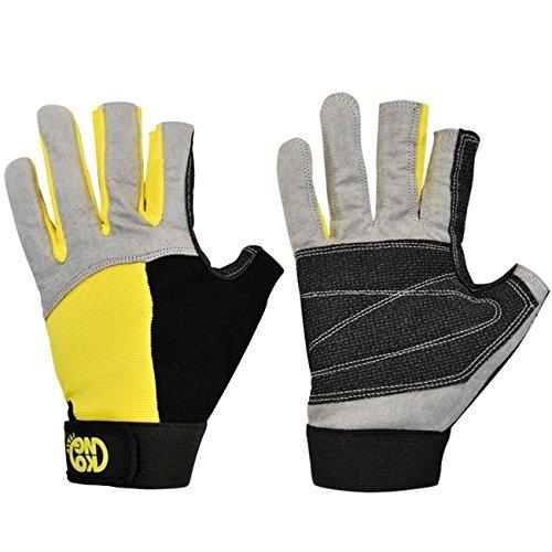 Kong Alex Handschuhe Handschuhe, Grau/Schwarz/Gelb, L (Seil-handschuhe)