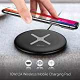 Portronics Toucharge X 10W/2A Wireless Mobile Charging Pad (POR-896, Black)