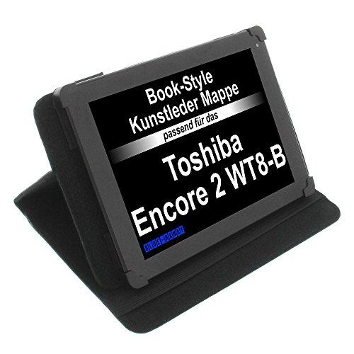 Tasche für Toshiba Encore 2 WT8-B Book Style Schutz Hülle Buch schwarz