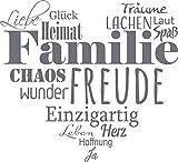 GRAZDesign 300207_57_WT071 Wandtattoo Familien - Tattoo als Herz an die Wand - Wand-Deko für Wohnzimmer/Schlafzimmer / Küche (63x57cm // 071 grau)