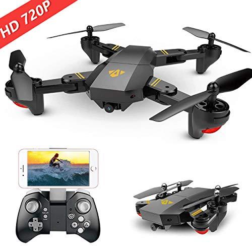 Hotbird Mini Faltbare Selbstauslöser Drohne mit 2MP 120°Weitwinkel-HD-Kamera 2,4G WiFi FPV RC Quadcopter Gravity Sensor Höhe Halten 3D Flips Rolls 6-Achsen-Gyro RTF RC Drohnen (Rtf-mini-quad)