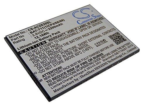 vhbw Li-Ion Batteria 3200mAh (3.8V) per cellulari e smartphone Acer Liquid Z630, Z630S (T04) sostituisce KT.0010S.018, BAT-T11(1ICP4/68/88)