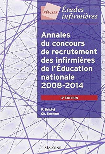 Annales du concours de recrutement des infirmières de l'Education nationale 2008-2014