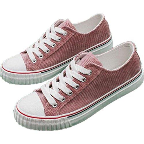 SHFANG Cinturino in cotone piatto fondo scarpe da donna scarpe comode Movimento di svago divertimento Studenti Shopping Tre colori quotidiani Watermelon Red