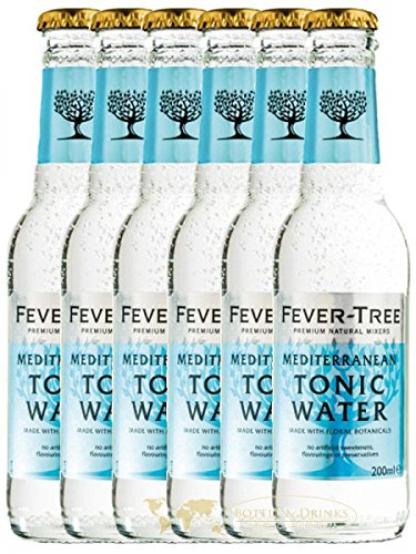 fever tree mediterranean tonic Fever Tree Mediterranean Tonic Water 6 x 0,2 Liter