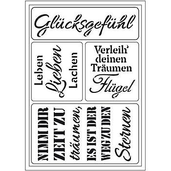 Vintage-Schrift Shabby Chic Kunststoff-Schablone f/ür W/ände und M/öbel Alphabet-Schablone