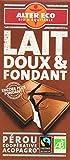 Alter Eco Tablette de Chocolat Lait Fondant Bio et Equitable 100...