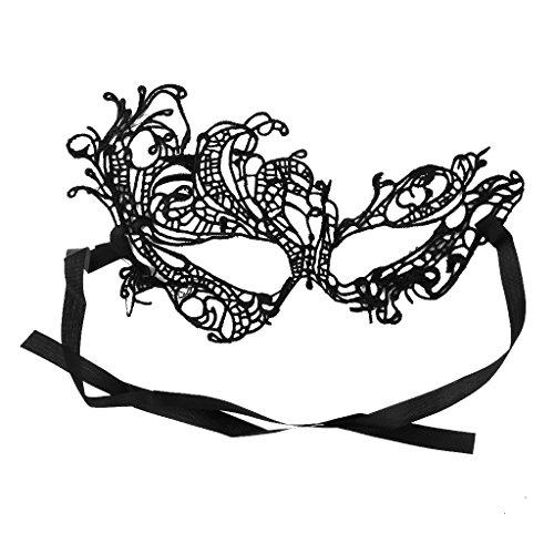 Frauen Schwarze Reizvolle Venetianische Maskerade Phoenix Augenmaske Spitze Abendkleid Der (Kostüm Phoenix Frauen)