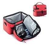 FakeFace Eistasche Kühltasche Tasche Milch Transportieren Picknicktasche Thermotasche Picnic Lunch Cooler Bento Box Ice Bag Camping (Rot)