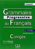 Grammaire progressive du français - Niveau avancé - Corrigés - 2ème édition
